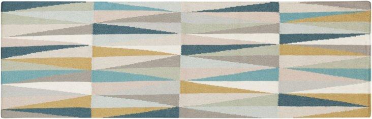 Arriette Flat-Weave Rug, Green
