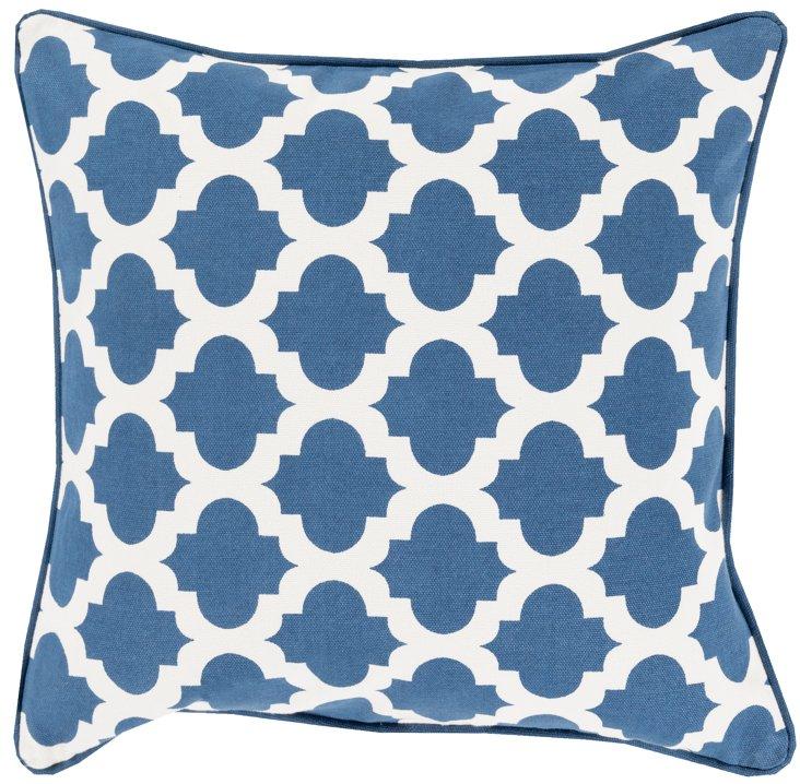 Shai 20x20 Cotton Pillow, Navy
