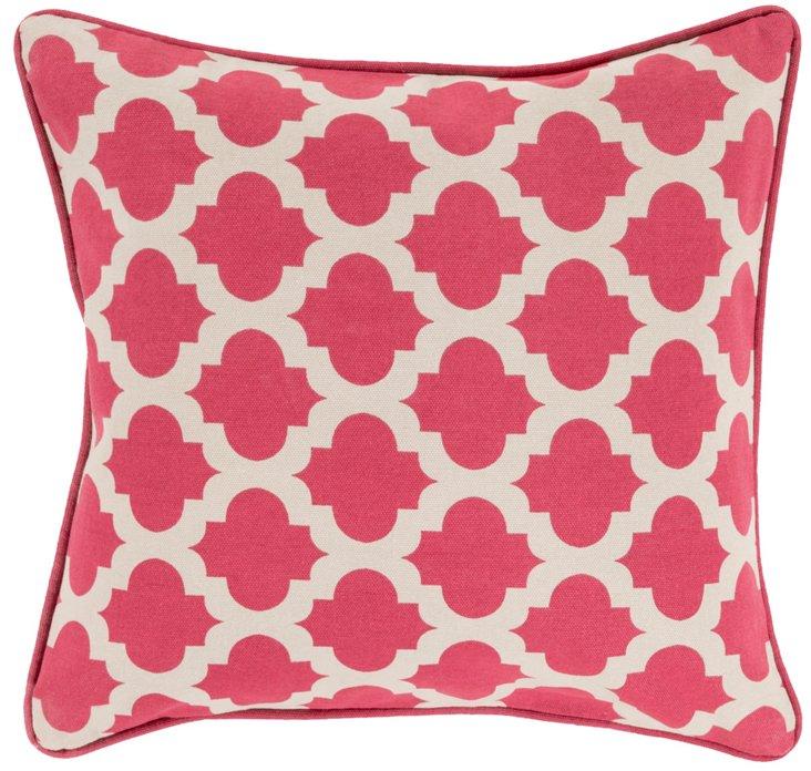 Shai Cotton Pillow, Pink