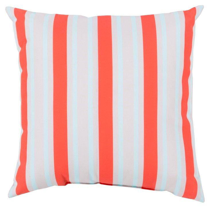 Stripes Outdoor Pillow, Orange