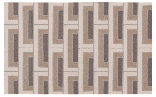 Layla Flat-Weave Rug, Ivory/Multi