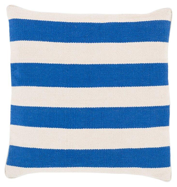 Nautical Cotton Pillow, Blue