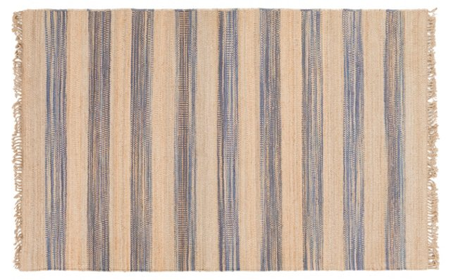 Dimitri Jute Rug, Blue/Neutral