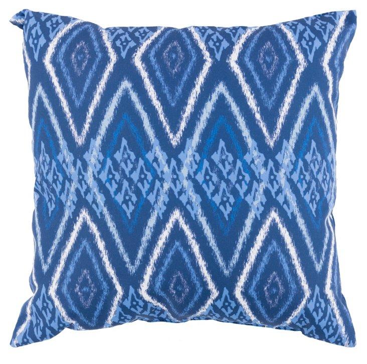 Jami 18x18 Outdoor Pillow, Indigo