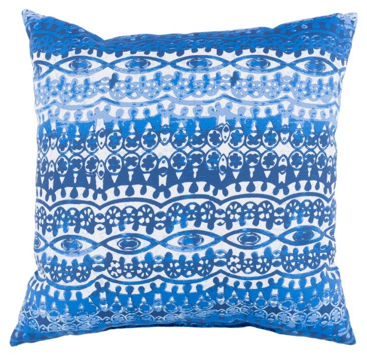 Rashi 18x18 Outdoor Pillow, Indigo