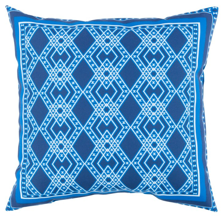 Tari 18x18 Outdoor Pillow, Indigo