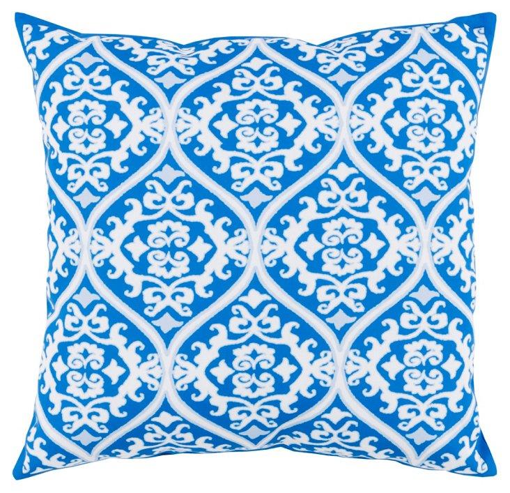 Malory 18x18 Outdoor Pillow, Indigo