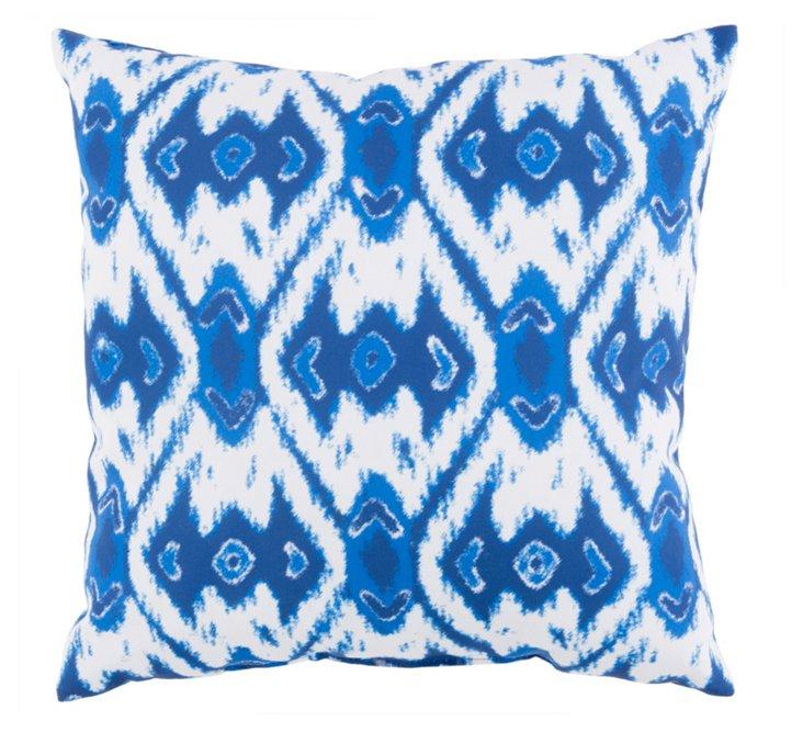 Hari 18x18 Outdoor Pillow, Indigo
