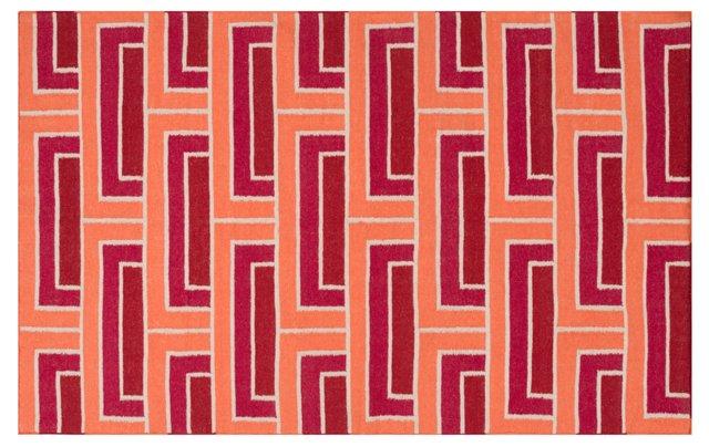 Layla Flat-Weave Rug, Red/Violet