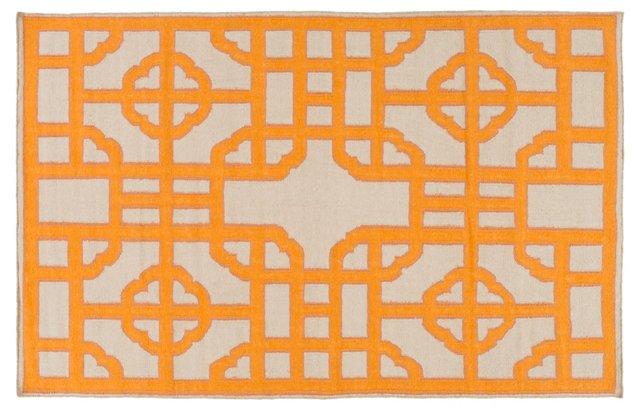 Shona Flat-Weave Rug, Orange