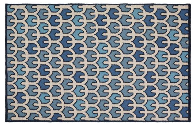 Mariana Flat-Weave Rug, Navy