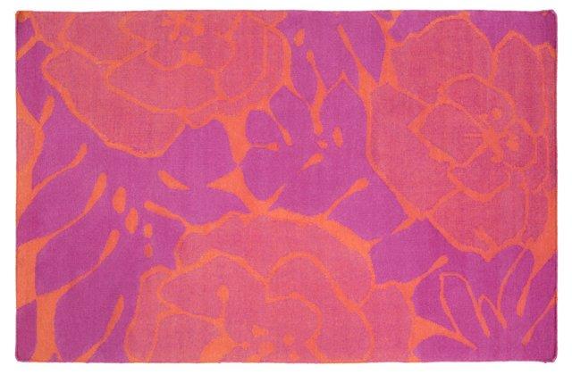 Franklin Flat-Weave Rug, Pink