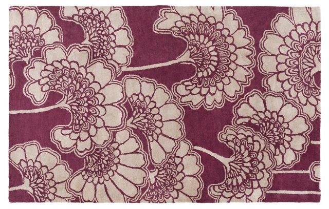 Hearts  Rug, Neutral/Violet