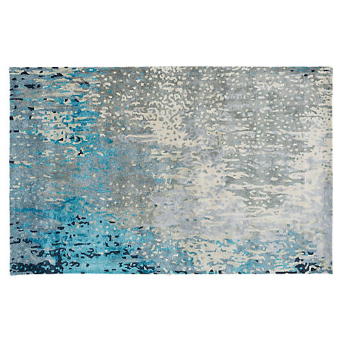 Fulda Rug, Green/Blue