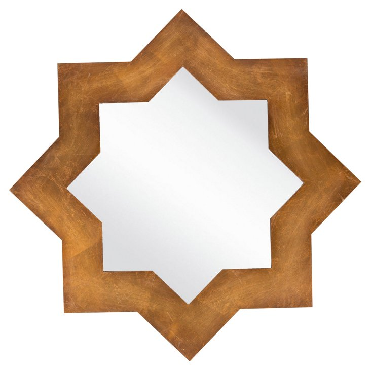 Arabesque Star Wall Mirror, Gold