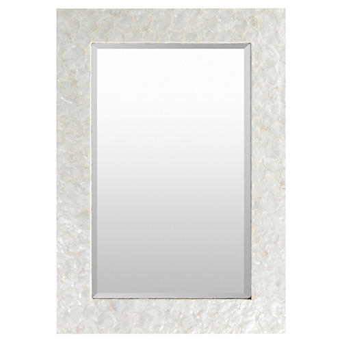 "Robin 28""x40"" Wall Mirror, White"
