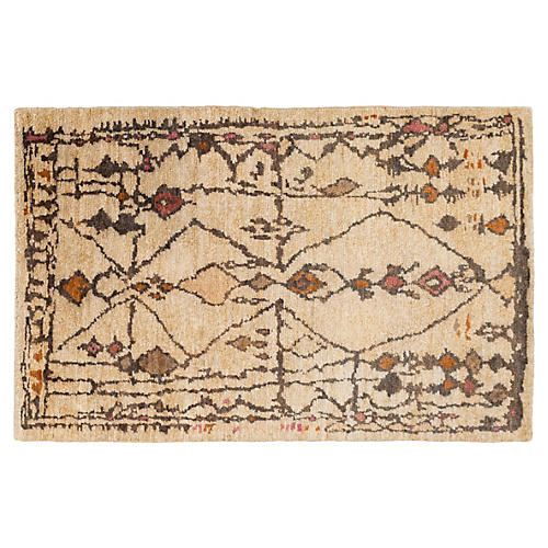 Chittenden Jute Rug, Orange/Multi