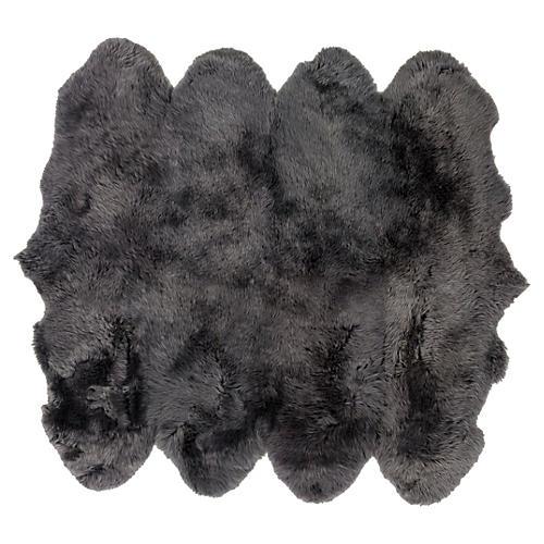 Sheepskin Rug, Gray