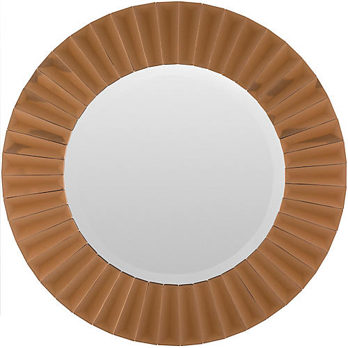 "Round 24"" Hugo Wall Mirror, Copper"