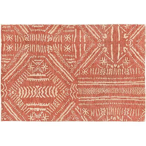 Cannon Jute Rug, Burnt Orange/Cream