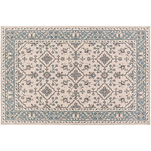 Cursa Rug, Neutral/Blue