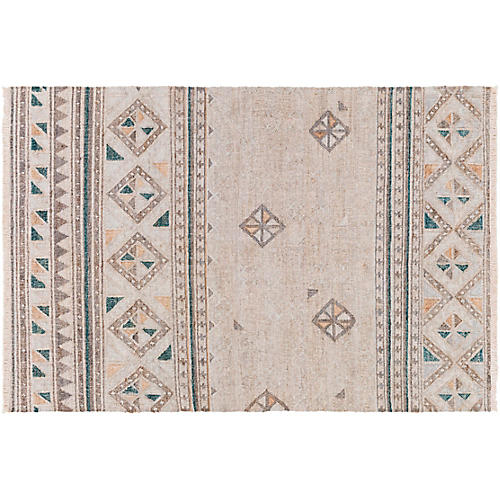 Nash Jute Rug, Brown/Green