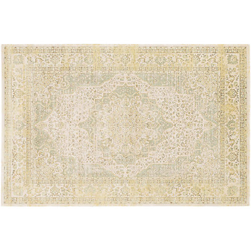 Salm Rug, Yellow/Green