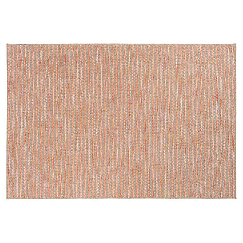 Zorion Outdoor Rug, Bright Orange/Multi