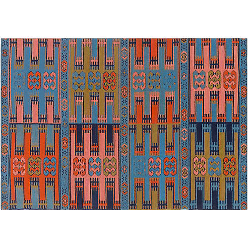 Cara Outdoor Rug, Blue/Multi