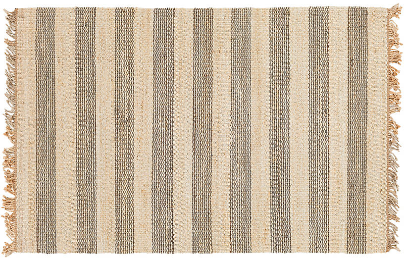 Shirley Jute Rug, Gray/Cream