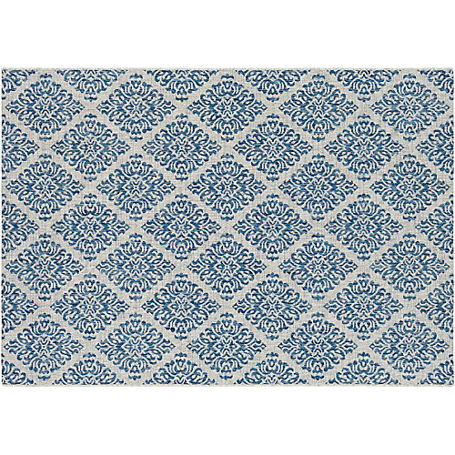 Abera Outdoor Rug, Denim