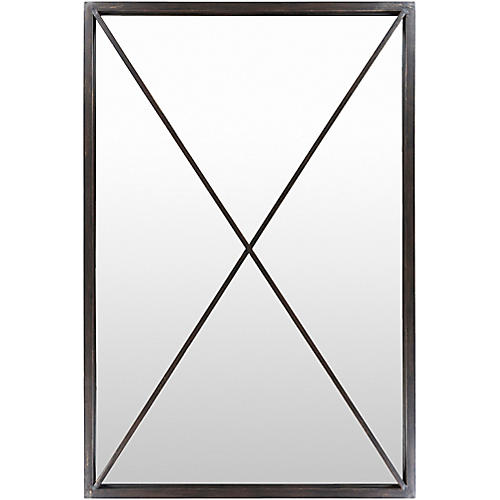 Forge Floor Mirror, Black