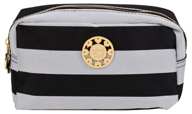 Cosmetic Pouch, Silver/Black