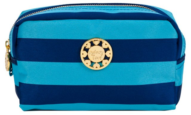 Cosmetic Pouch, Turquoise/Navy