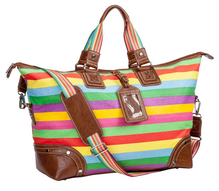 Stripe Overnight Bag, Multi