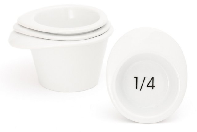 Asst. of 4 Porcelain Measuring Cups