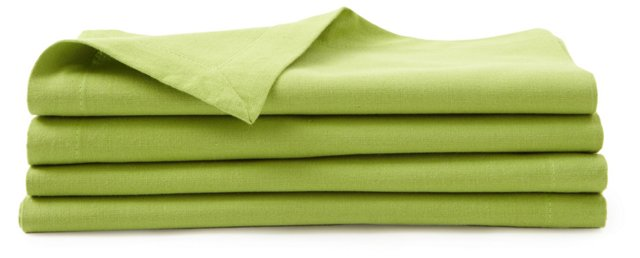 S/4 Solid Napkins, Green