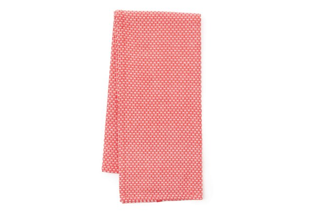 S/3 Basket-Weave Dish Towels, Red