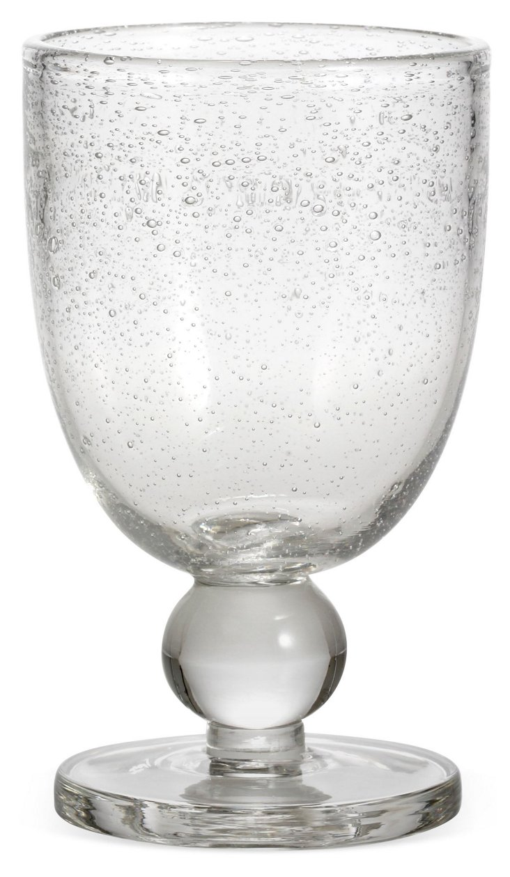 S/6 Bubble-Glass Goblets, Clear