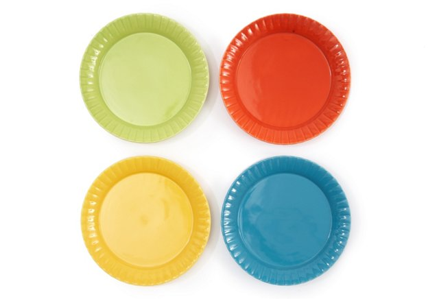 S/4 Party Appetizer Plates