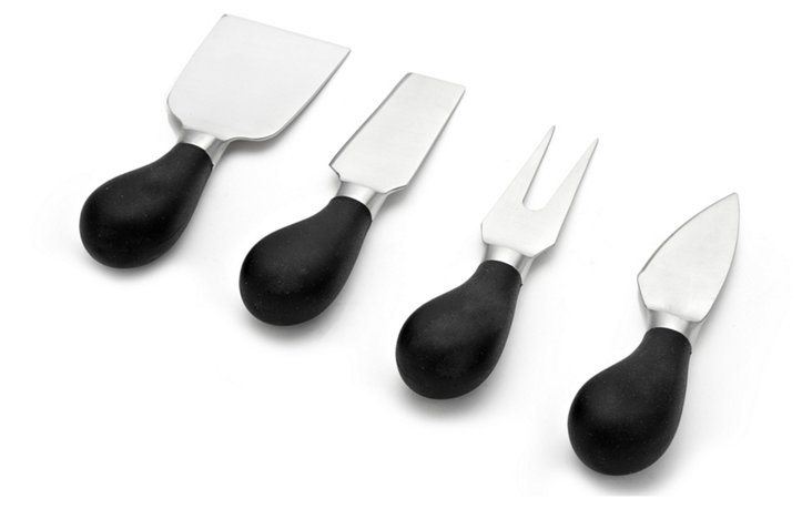 4-Pc Silicone Cheese Utensil Set