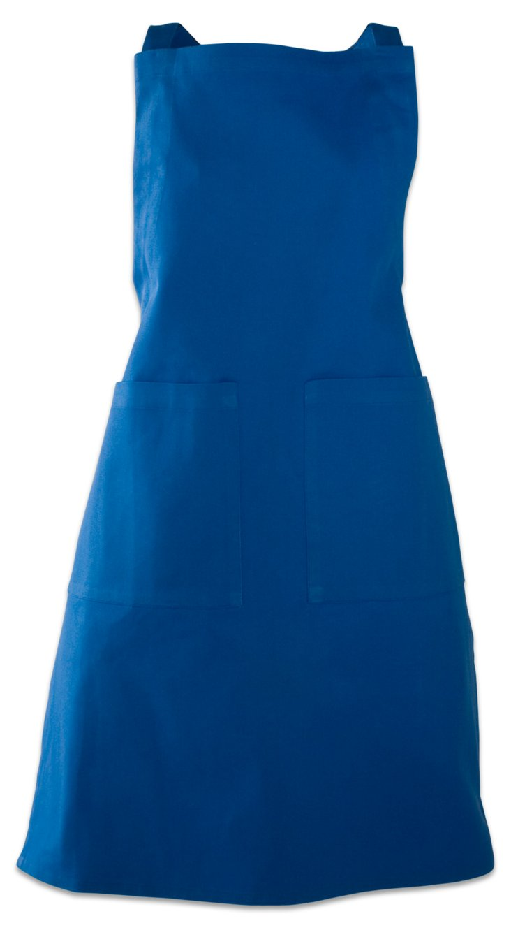 Basic Solid Apron, Blue