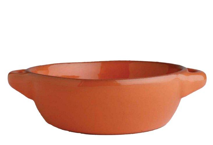 Small Round Terracotta Baker, Orange