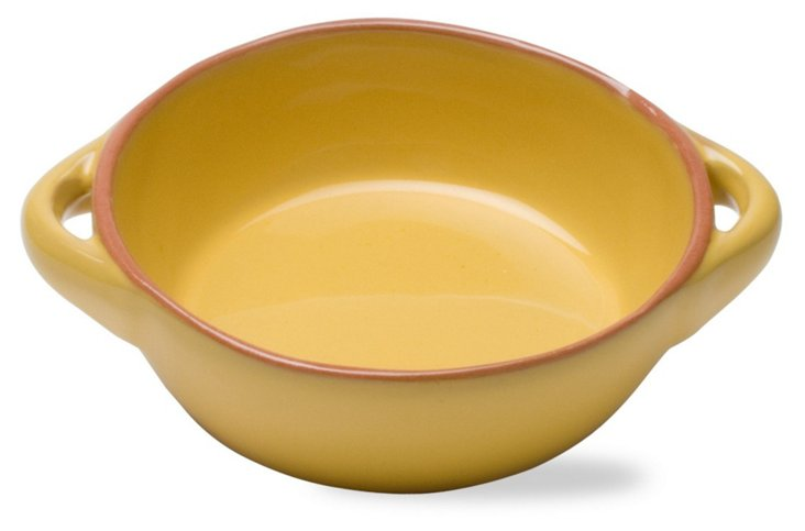 """5.75"""" Round Terracotta Baker, Yellow"""