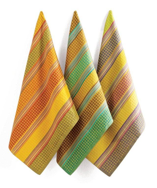S/3 Assorted Weave Stripe Dish Towels