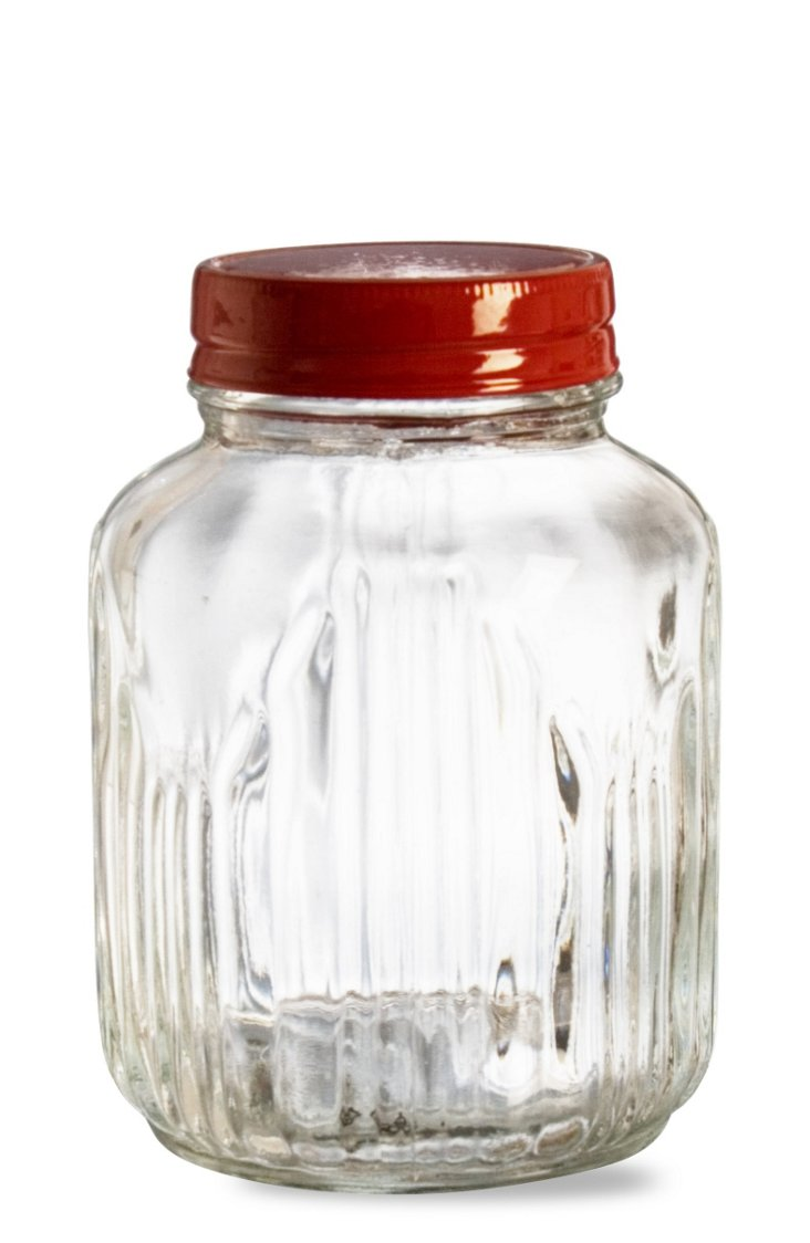 S/2 Glass Jars, Small