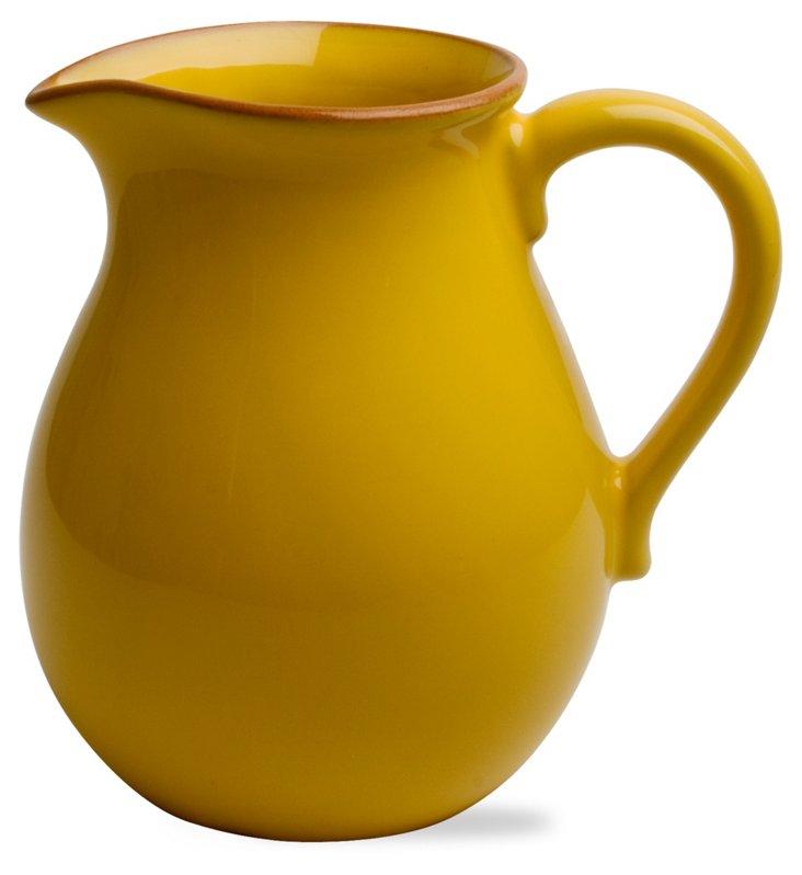Jardin Terracotta Pitcher, Yellow