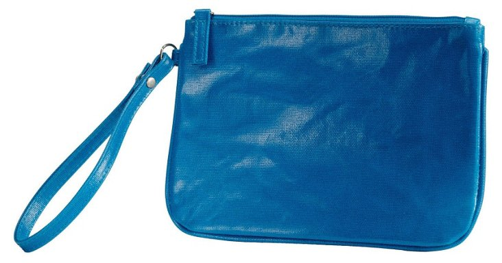 Cotton Canvas Wristlet, Blue