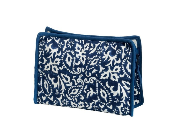 Medium Cosmetic Bag, Indigo