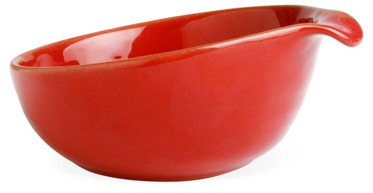 Terra-Glazed Tapas Bowl, Red